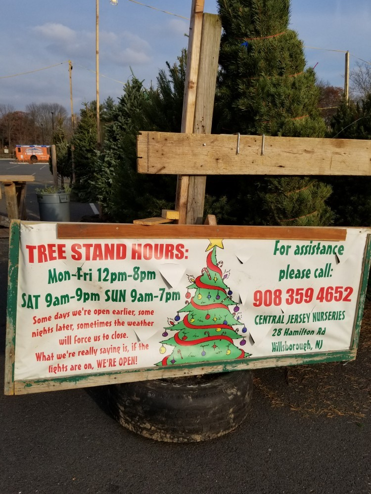 Central Jersey Nurseries Christmast Tree Lot