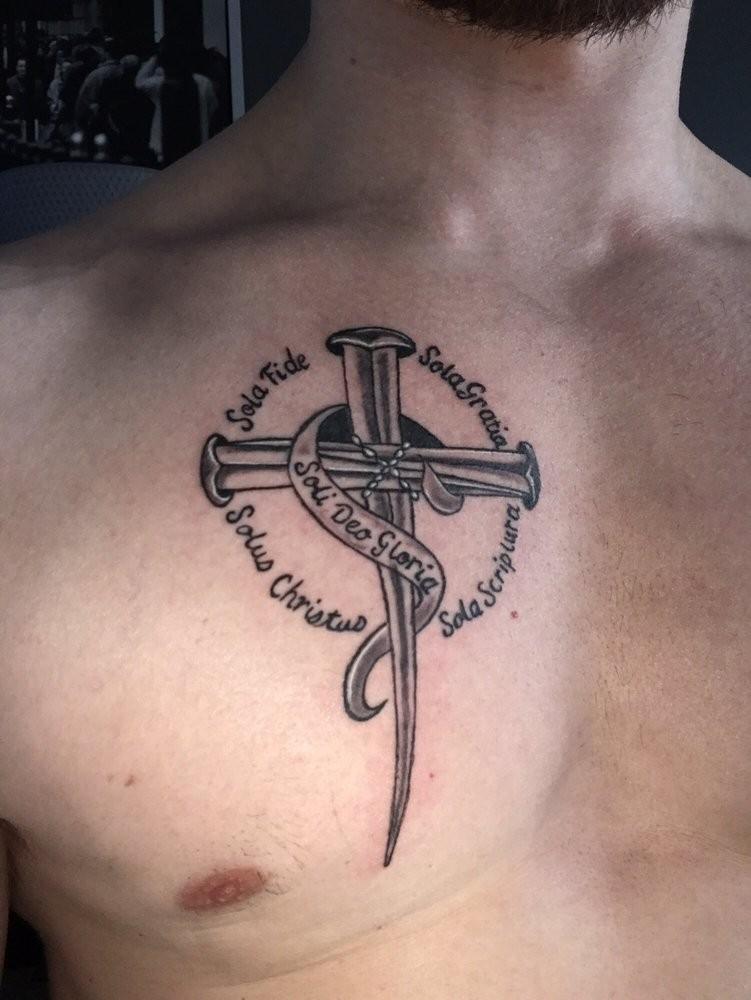 Sola fide sola gratia tattoo