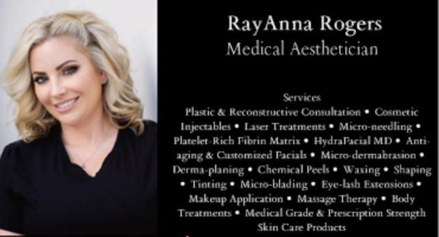 RayAnna Rogers, Licensed Medical Aesthetician serving 30a- Panama