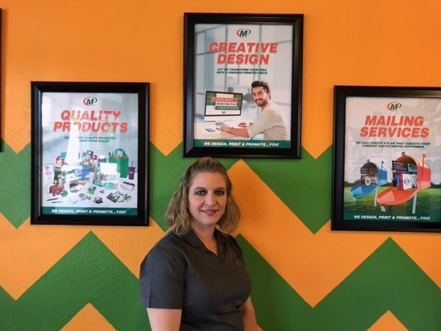 Minuteman press in rockwall meet the owner erin ragsdale parkbench we do design work help market businesses direct mail flyers business cards banners and just about anything you can think of should be a way to print reheart Image collections
