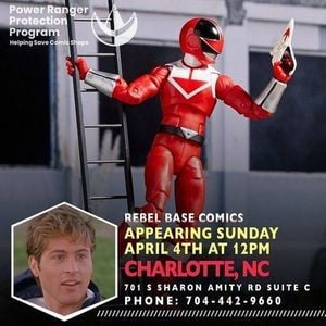 Jason Faunt Power Ranger Protection Program In-Store Appearance at Rebel  Base Comics 4-4-2021 - Parkbench