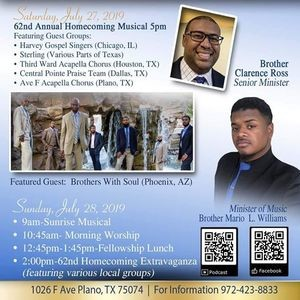 Avenue F Church Of Christ 62nd Annual Homecoming - Parkbench