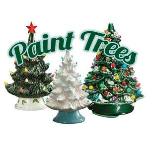 Ceramic Christmas Trees Tree Painting Party Parkbench