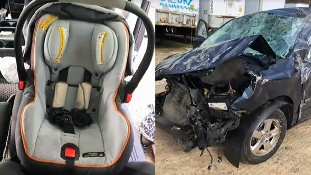 Infant Ejected From Car Seat