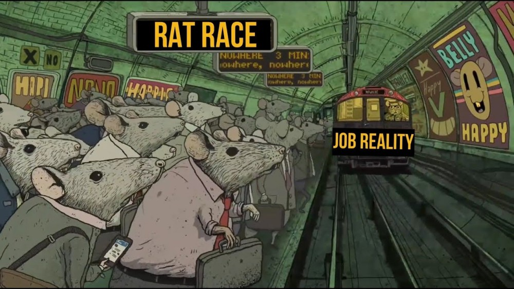 "to win a rat race you need to be a cat How to win the rat race instead of running the unwinnable rat race, morley says  ""today, men are consumed by desires to buy things they don't need."