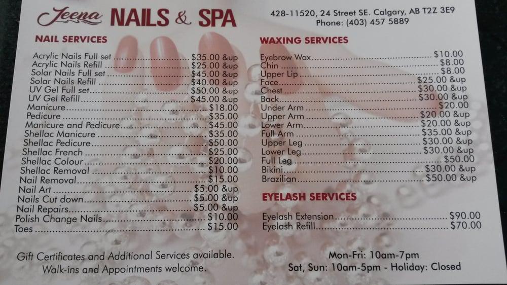 Jeena Nails & Spa, Nail Care in McKenzie Lake, McKenzie Towne ...