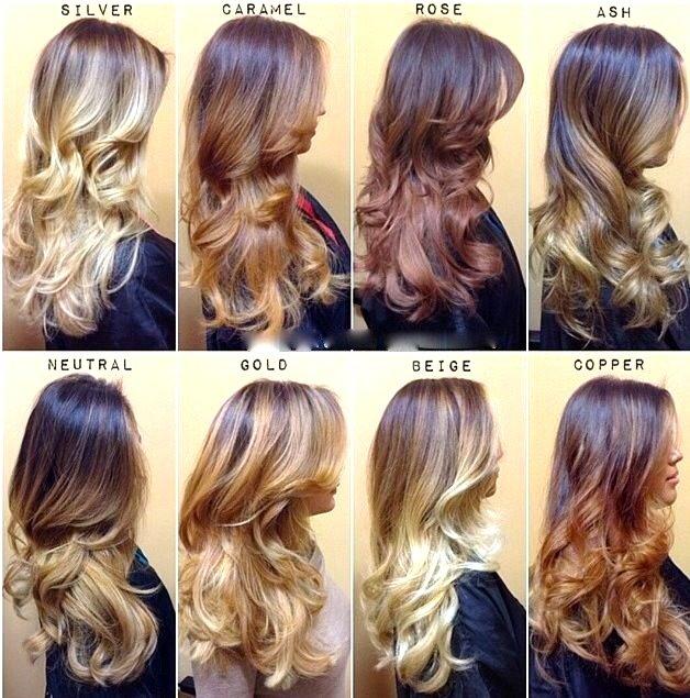 покраска волос какие названия