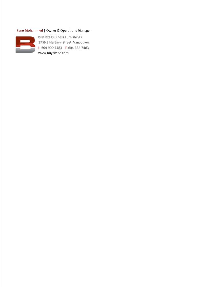 Buy Rite Business Furnishings