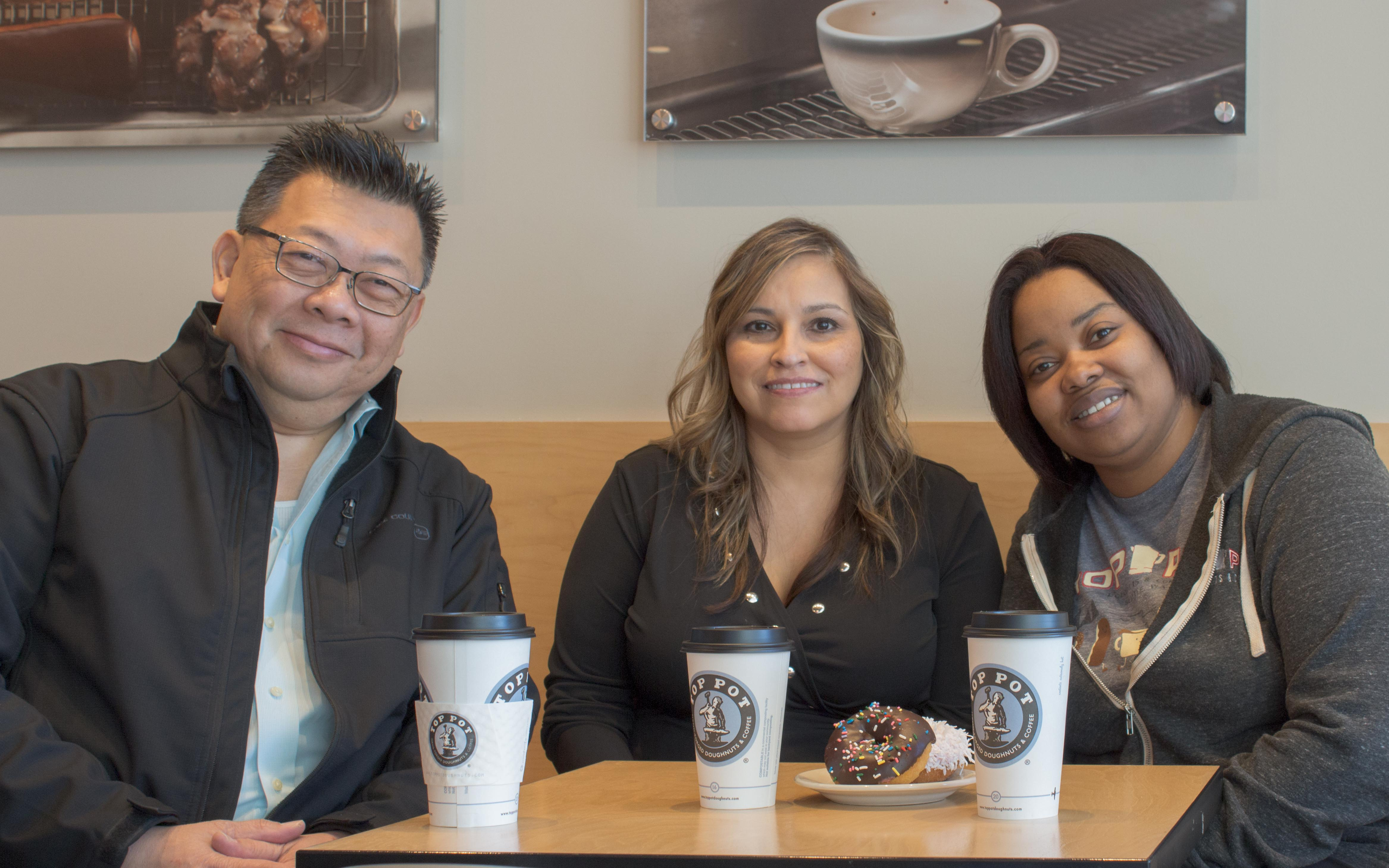 Top Pot Hand-Forged Doughnuts & Coffee- Richardson Cityline in Murphy and North Richardson, meet the Manager Amber Longmire